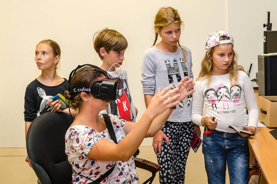 Workshop, na ktorom si deti mohli vyskúšať Oculur rift